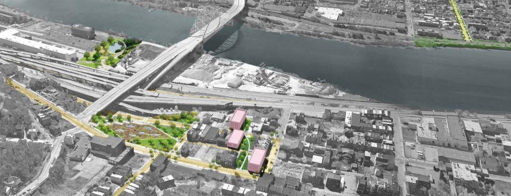 Green Infrastructure design for Soho Run on Monongahela River