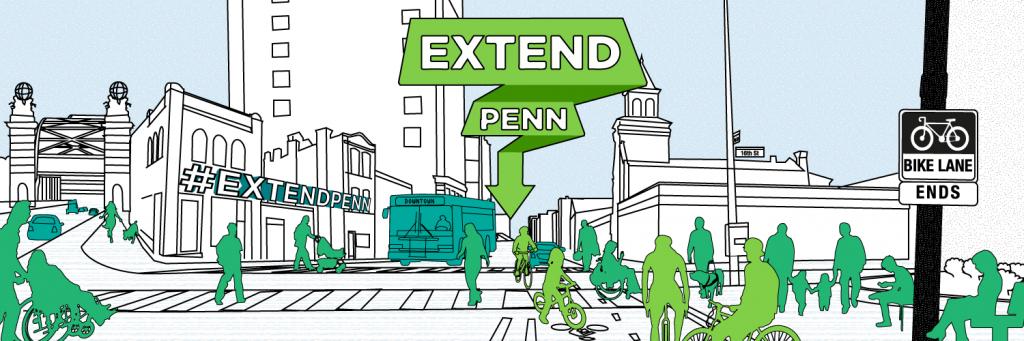 BikePGH Extend Penn campaign graphic