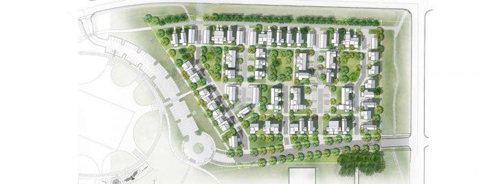 Bozeman MT Bridger View Redevelopment Site Plan by evolveEA