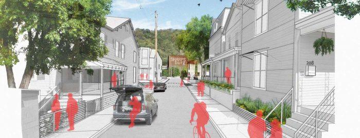 Sharpsburg Community Vision Plan Eastern District Illustration by evolveEA